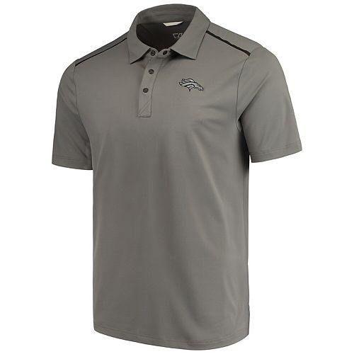 Men's Cutter & Buck Gray Denver Broncos Fusion Polo