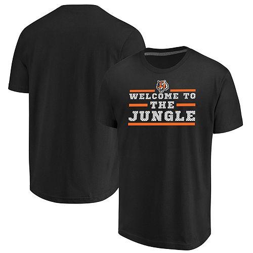 Men's Majestic Black Cincinnati Bengals Big & Tall Safety Blitz T-Shirt