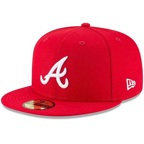 Men's New Era Red Atlanta Braves Fashion Color Basic 59FIFTY Fitted Hat