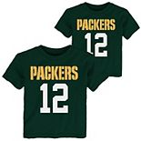 Preschool Aaron Rodgers Green Green Bay Packers Mainliner Name & Number T-Shirt