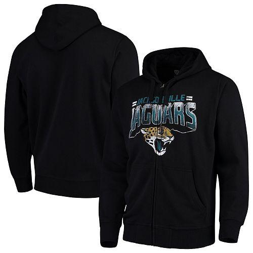 Men's G-III Sports by Carl Banks Black Jacksonville Jaguars Perfect Season Full-Zip Hoodie