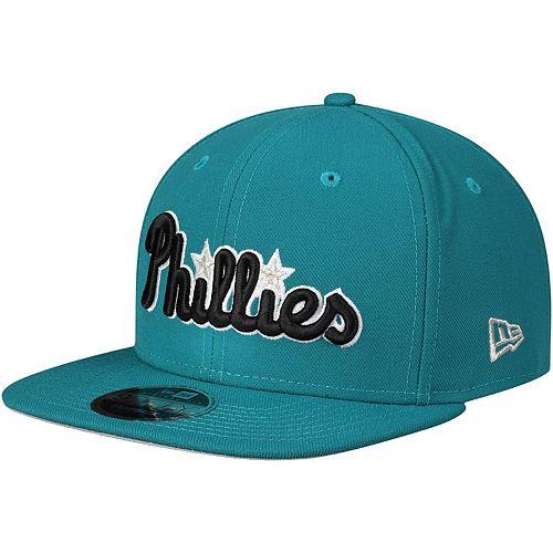 Men's New Era Aqua Philadelphia Phillies Crossover 9FIFTY Snapback Adjustable Hat