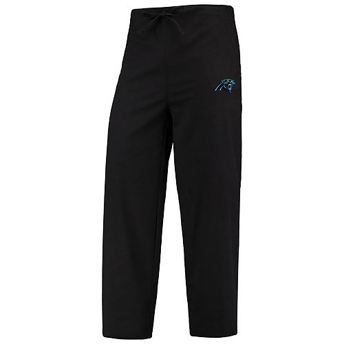 Men's Concepts Sport Black Carolina Panthers Scrub Pants
