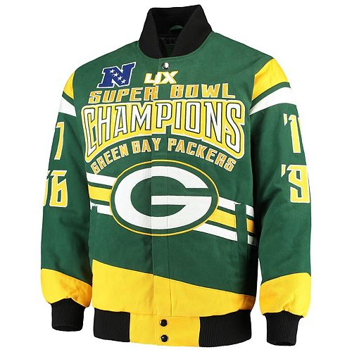 Men's G-III Extreme Green Green Bay Packers Gladiator Commemorative Cotton Twill Jacket