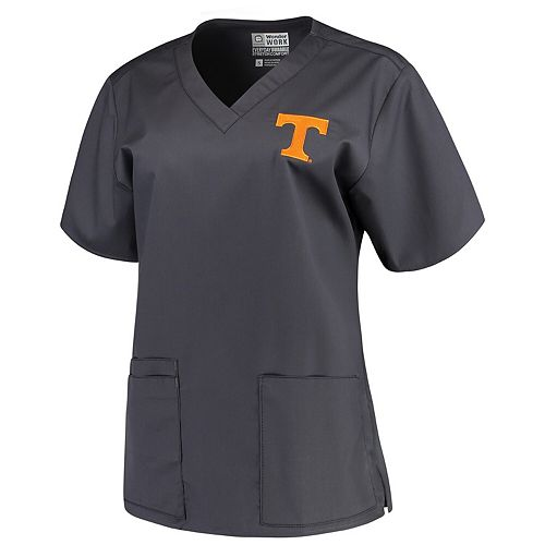 Women's Charcoal Tennessee Volunteers V-Neck Scrub Top