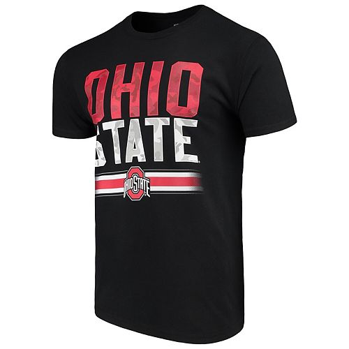 Men's Black Ohio State Buckeyes Team Camo T-Shirt
