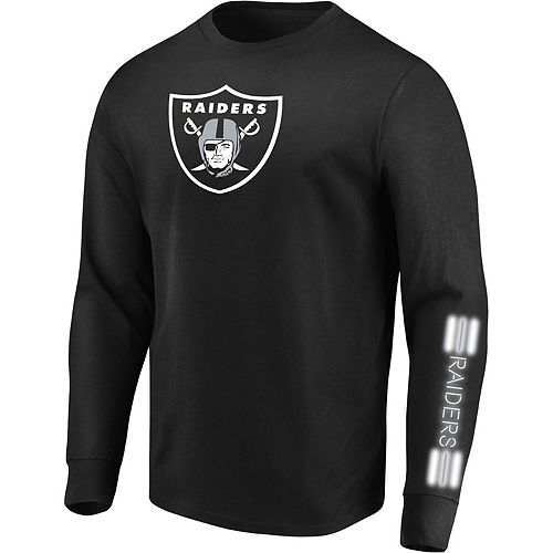 Men's Majestic Black Oakland Raiders Startling Success Long Sleeve T-Shirt