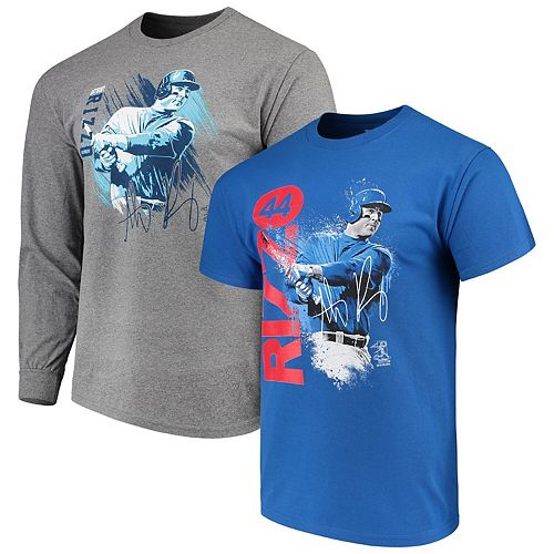 Men's Anthony Rizzo Royal/Gray Chicago Cubs Splash Player Graphic T-Shirt Combo Set