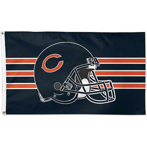 WinCraft Chicago Bears Single-Sided 3' x 5' Deluxe Helmet Flag