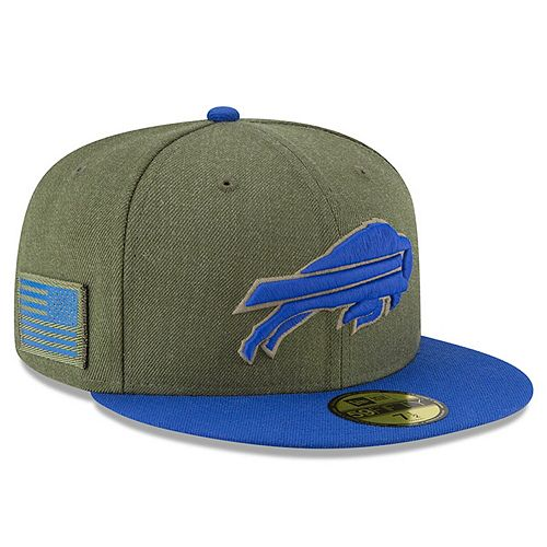 Men's New Era Olive/Royal Buffalo Bills 2018 Salute to Service Sideline 59FIFTY Fitted Hat