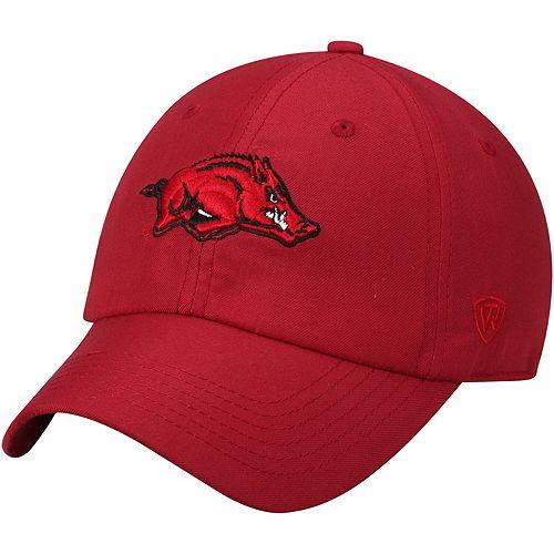Men's Top of the World Cardinal Arkansas Razorbacks Staple Adjustable Hat