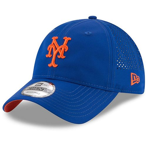 Men's New Era Royal New York Mets Perforated Pivot 9TWENTY Adjustable Hat