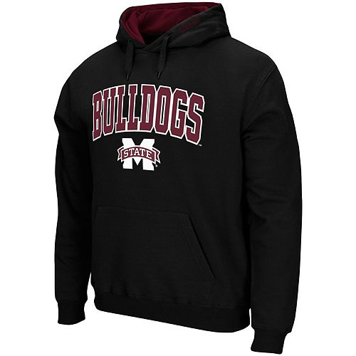 Men's Colosseum Black Mississippi State Bulldogs Arch & Logo Pullover Hoodie
