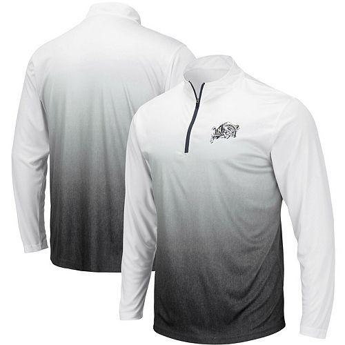 Men's Colosseum Gray Navy Midshipmen Magic Team Logo Quarter-Zip Jacket