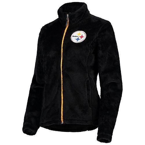 Women's G-III 4Her by Carl Banks Black Pittsburgh Steelers Goal Line Full-Zip Jacket