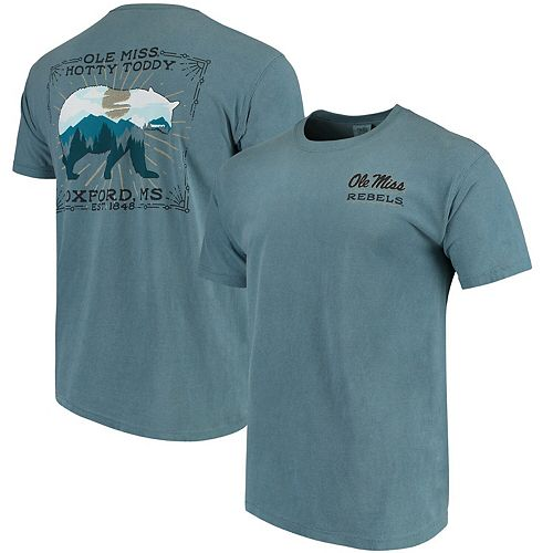 Men's Blue Ole Miss Rebels State Scenery Comfort Colors T-Shirt