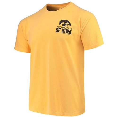Men's Gold Iowa Hawkeyes Comfort Colors Campus Icon T-Shirt