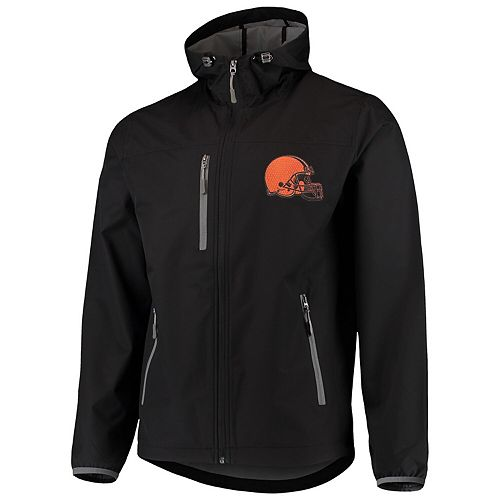 Men's G-III Sports by Carl Banks Black Cleveland Browns Trick Play Full-Zip Hooded Jacket