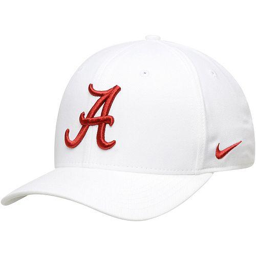Men's Nike White Alabama Crimson Tide Team Classic Logo 99 Swoosh Performance Flex Hat