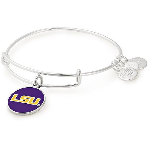 Women's Alex & Ani LSU Tigers Enamel Stack Bracelet