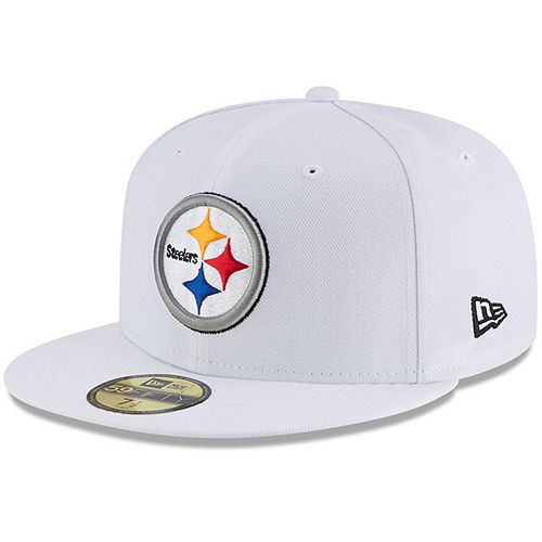 Men's New Era White Pittsburgh Steelers Omaha 59FIFTY Fitted Hat