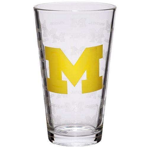 Michigan Wolverines 16oz. Sandblasted Mixing Glass