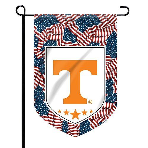 """Tennessee Volunteers 12"""" x 15"""" Patriotic Garden Flag"""