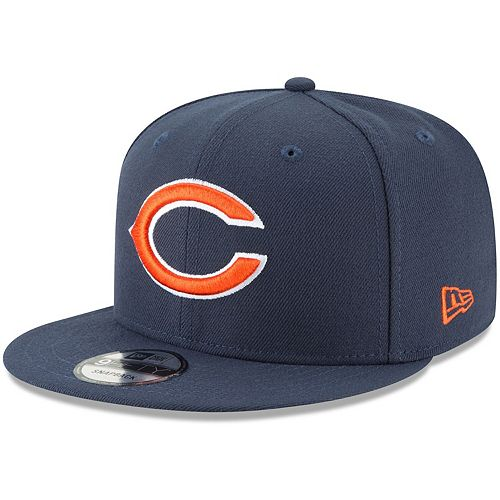 Men's New Era Navy Chicago Bears Basic 9FIFTY Adjustable Snapback Hat
