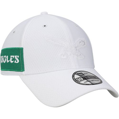 Men's New Era White Philadelphia Eagles Historic Logo Kickoff 39THIRTY Flex Hat