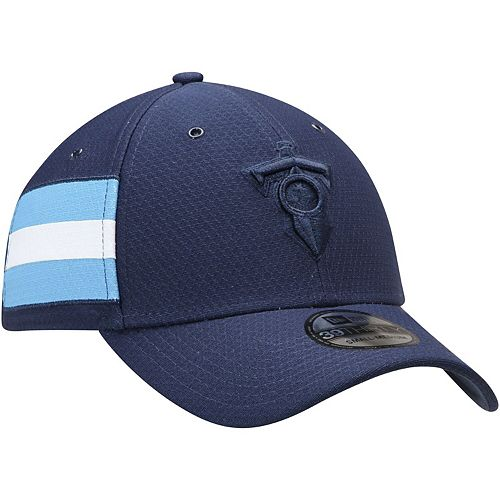 Men's New Era Navy Tennessee Titans Kickoff Reverse 39THIRTY Flex Hat