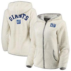 Juniors Cream New York Giants Time Honored Full-Zip Hoodie