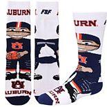 Youth For Bare Feet Auburn Tigers Bobble Head Quarter-Length Socks