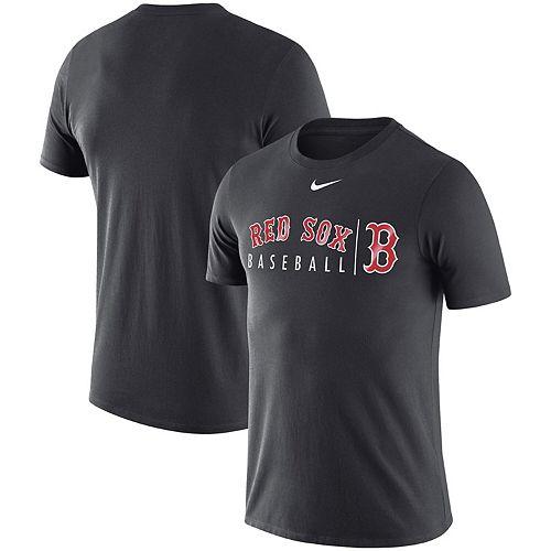 Men's Nike Anthracite Boston Red Sox MLB Team Logo Practice T-Shirt