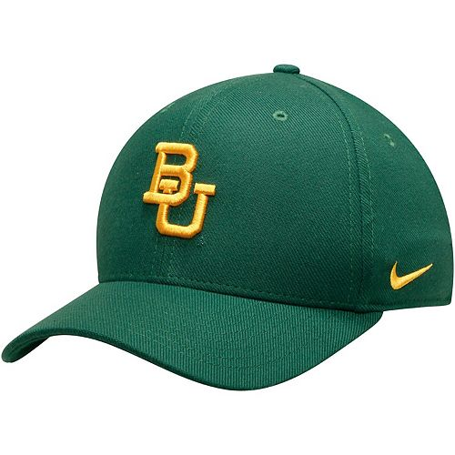 Men's Nike Green Baylor Bears Team Classic Logo 99 Swoosh Performance Flex Hat