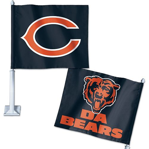 WinCraft Chicago Bears Double-Sided Slogan Car Flag