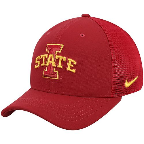 Men's Nike Cardinal Iowa State Cyclones Aerobill Meshback Swoosh Flex Hat