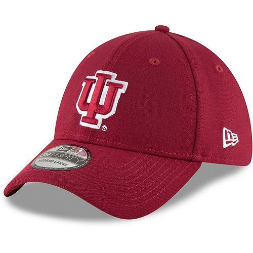 Men's New Era Crimson Indiana Hoosiers College Classic 39Thirty Flex Hat