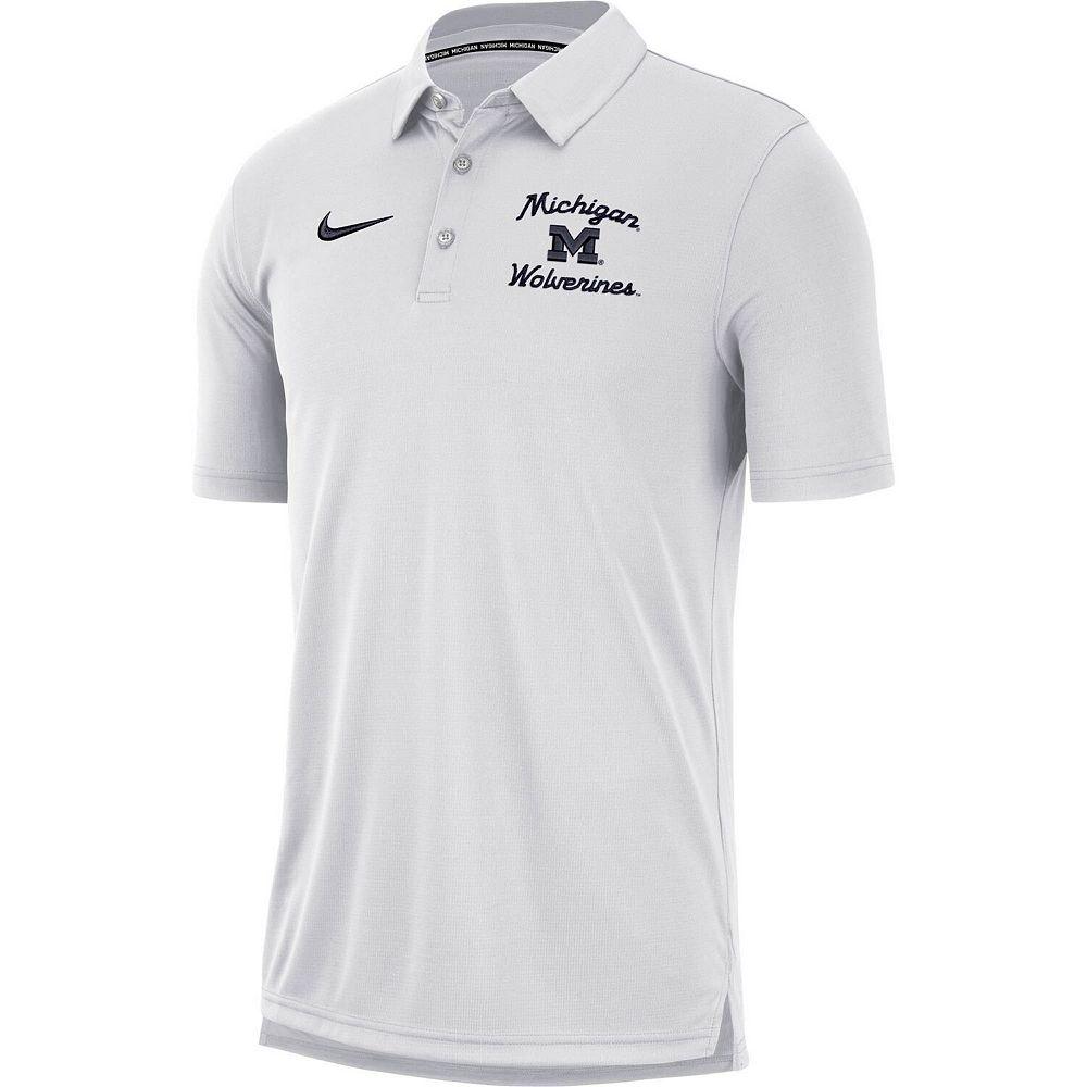 Men's Nike White Michigan Wolverines Team Polo