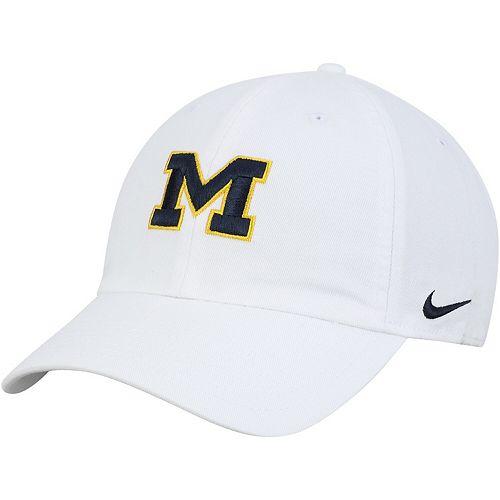 Men's Nike White Michigan Wolverines Heritage 86 Logo Performance Adjustable Hat