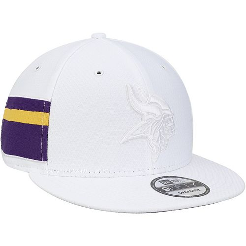 Men's New Era White Minnesota Vikings Kickoff Color Rush 9FIFTY Adjustable Hat
