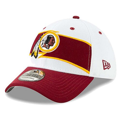 Men's New Era White/Burgundy Washington Redskins Thanksgiving 39THIRTY Flex Hat