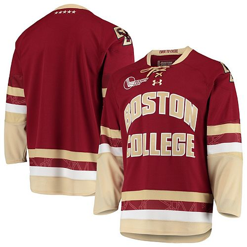 Men's Under Armour Maroon Boston College Eagles Replica College Hockey Jersey
