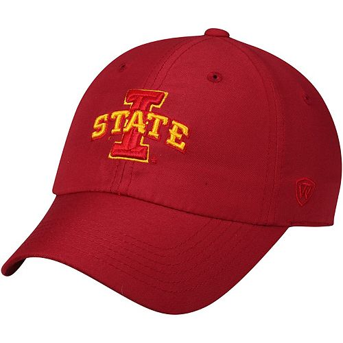 Men's Top of the World Cardinal Iowa State Cyclones Primary Logo Staple Adjustable Hat