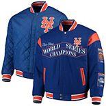 Men's JH Design Royal New York Mets Wool Reversible Full-Snap Jacket