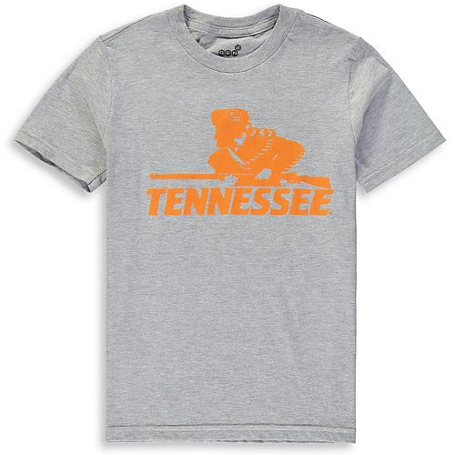 Youth Heathered Gray Tennessee Volunteers Vault Logo Short Sleeve T-Shirt
