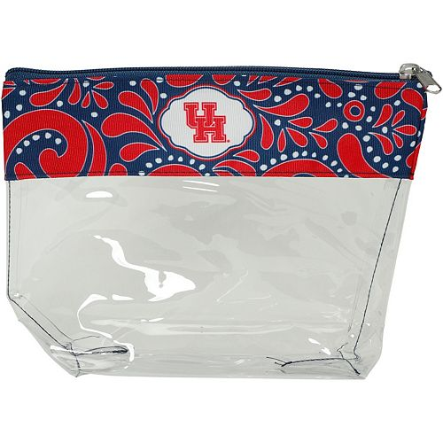 Houston Cougars Clear Travel Pouch