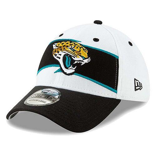 Men's New Era White/Black Jacksonville Jaguars Thanksgiving 39THIRTY Flex Hat