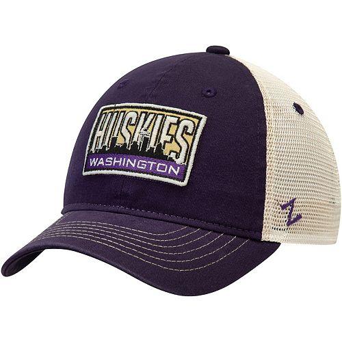 Washington Huskies Zephyr Vista Trucker Snapback Hat - Purple/Gray