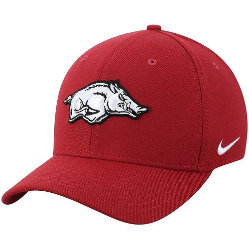 Men's Nike Crimson Arkansas Razorbacks Classic Logo 99 Swoosh Flex Hat