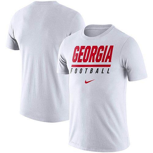 Men's Nike White Georgia Bulldogs Icon Wordmark Performance T-Shirt